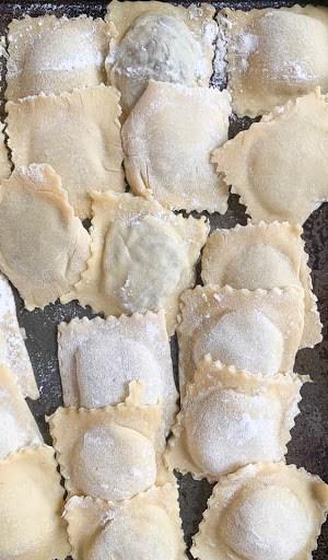 freezing homemade ravioli