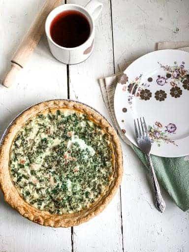 Ham, cheese, and broccoli quiche | brunch idea