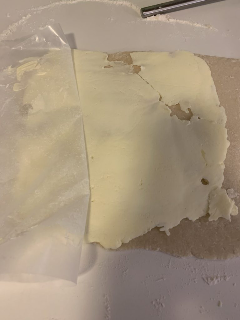 Dough with butter 1