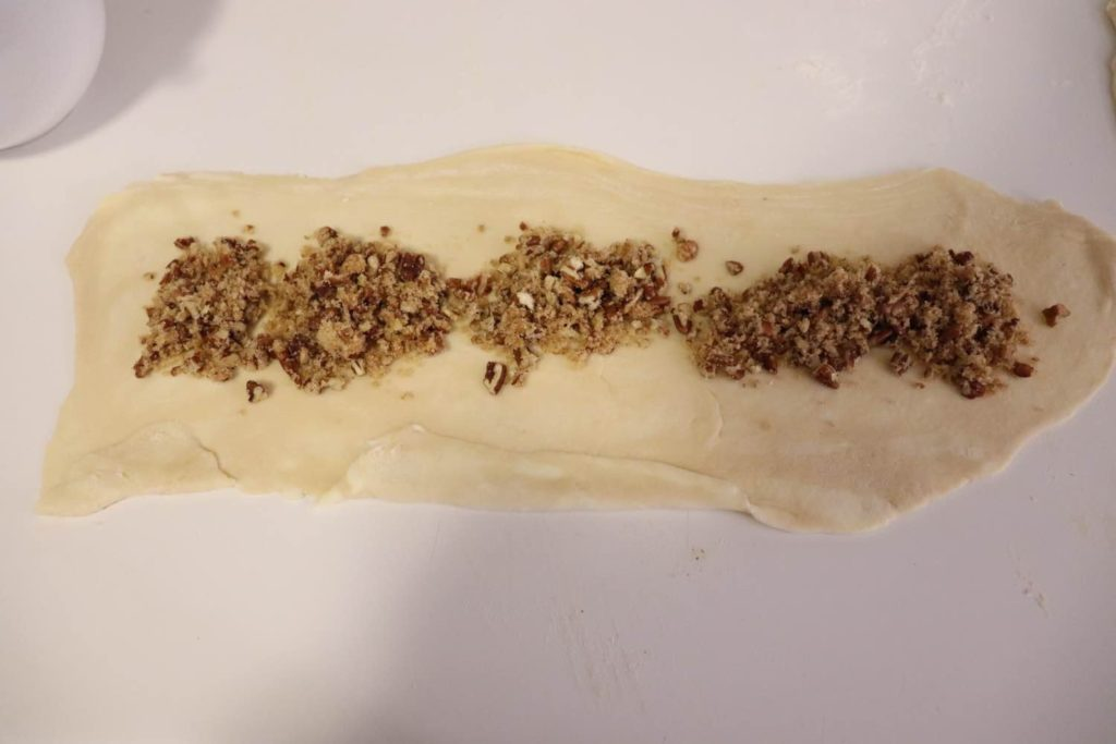 Dough with pecans