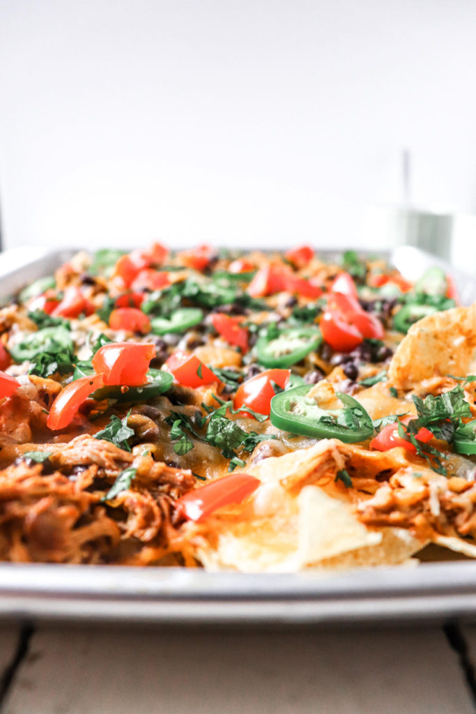 Instant Pot Taco Chicken Thighs for Sheet Pan Nachos