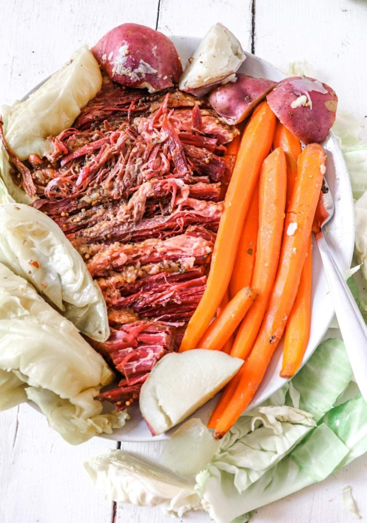 Shredded corned beef and cabbage