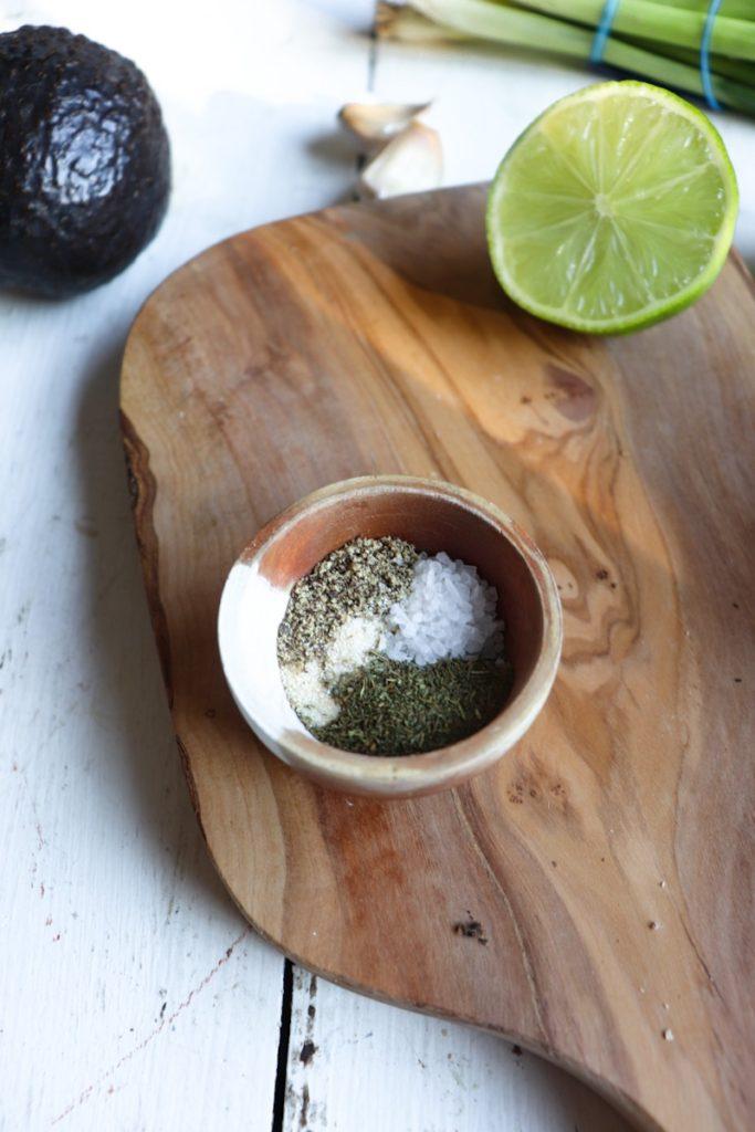 spices for avocado ranch