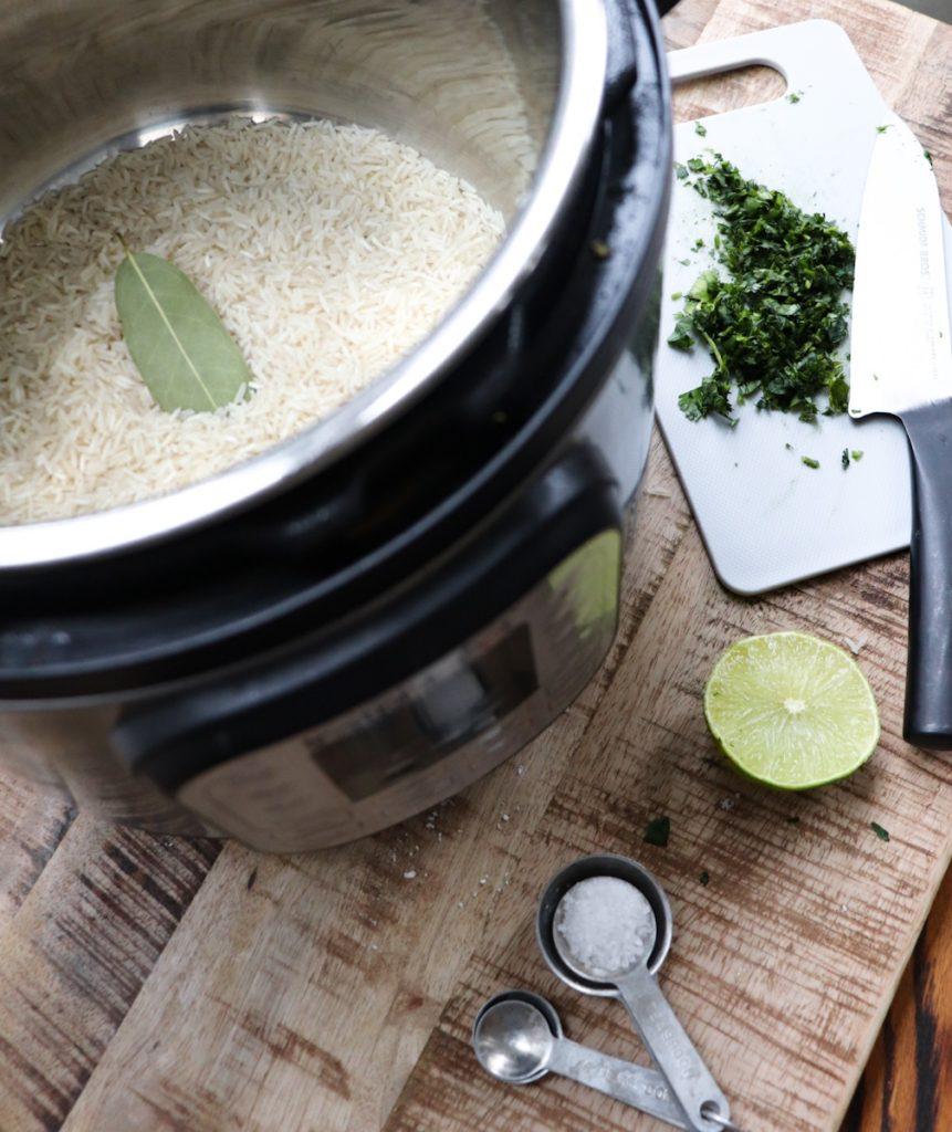cilantro lime rice instant pot ingredients