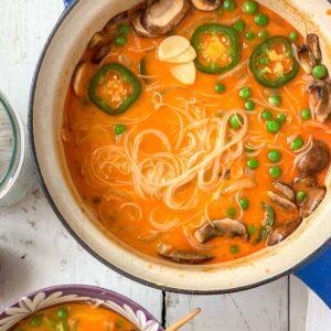 15 minute veggie curry featured
