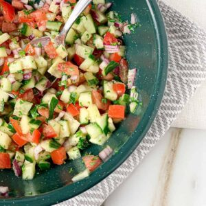 chopped greek salad featured