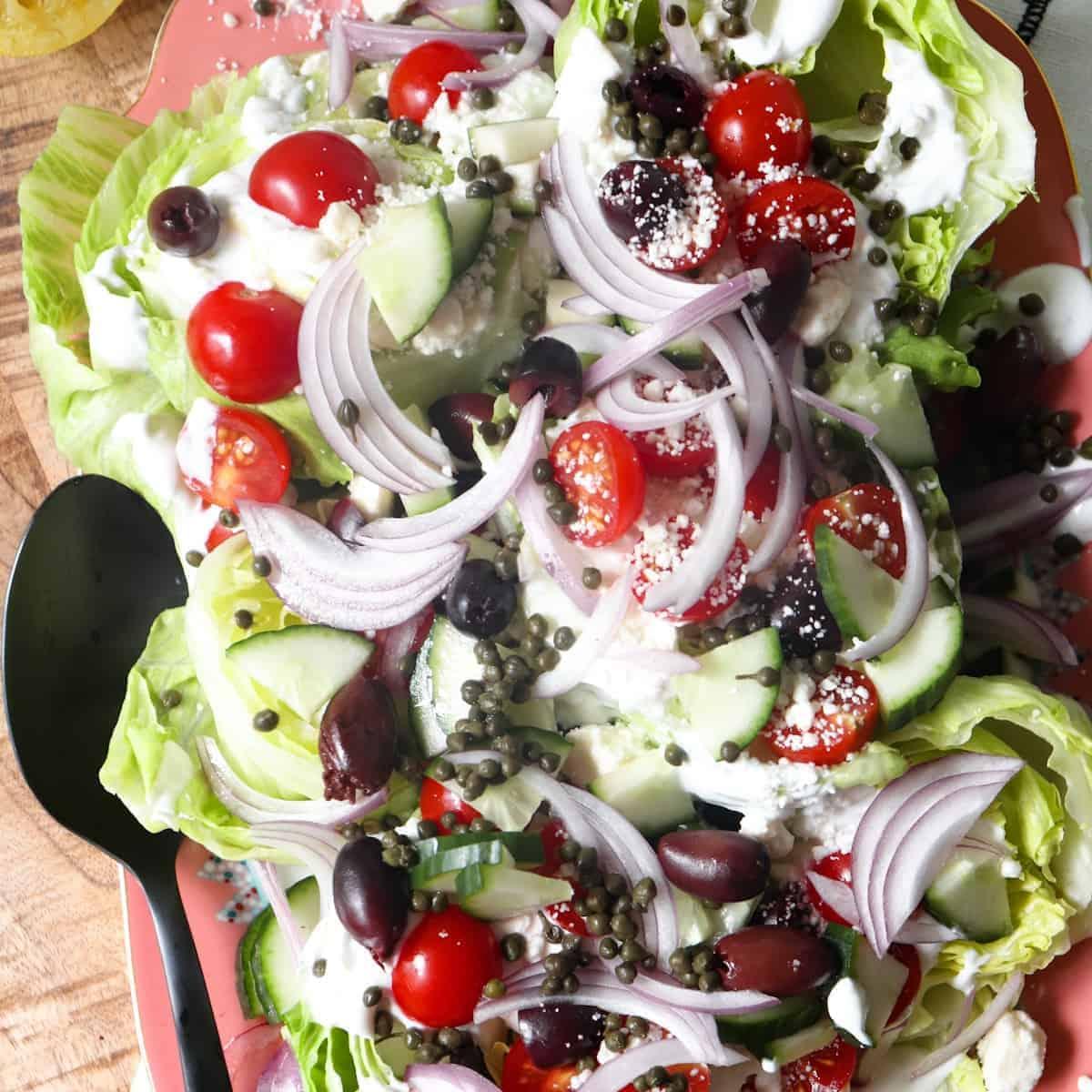 greek wedge salad featured