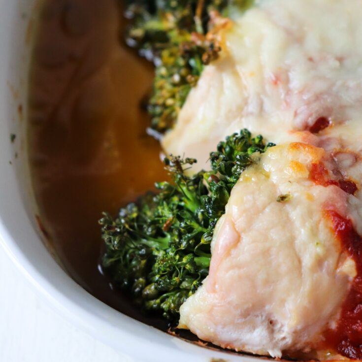 Chicken Stuffed with Baby Broccoli and Pesto