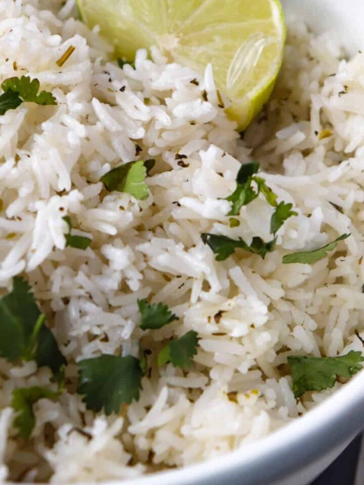 instant pot cilantro lime rice featured