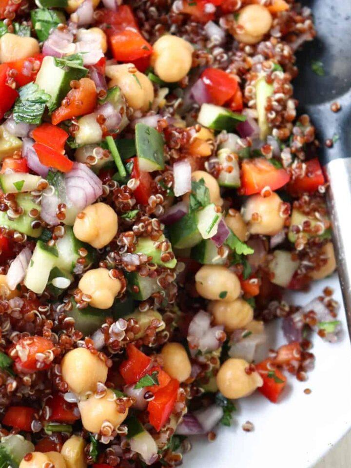 rainbow quinoa salad featured