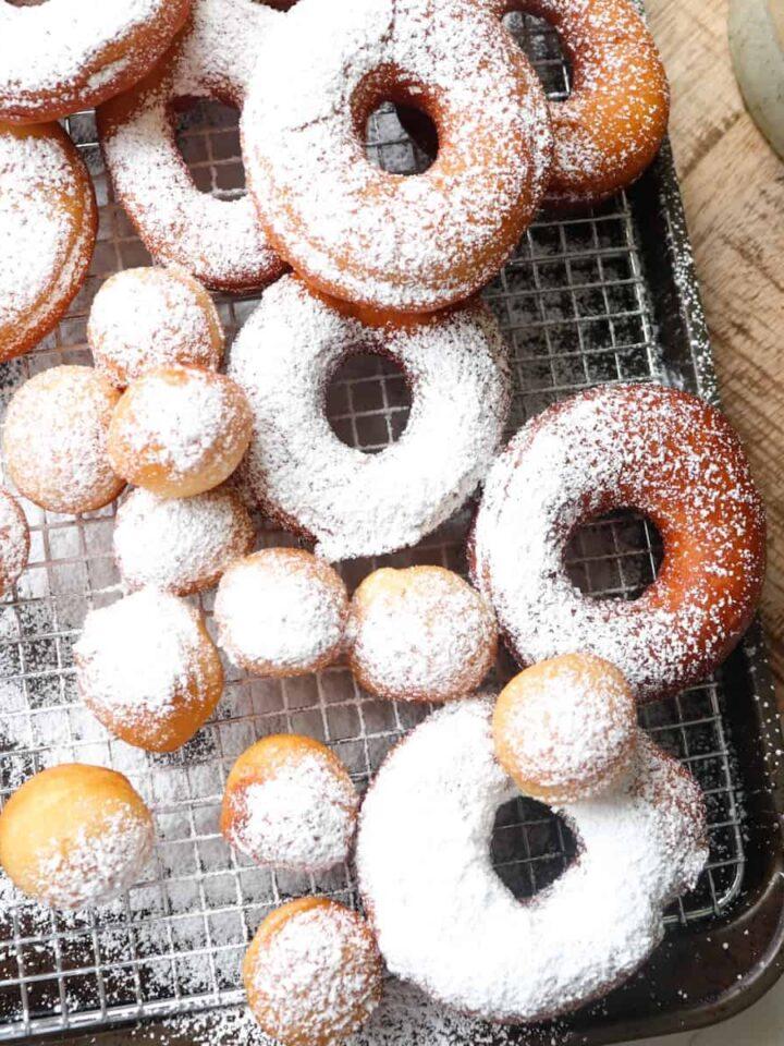 sourdough discard donuts featured