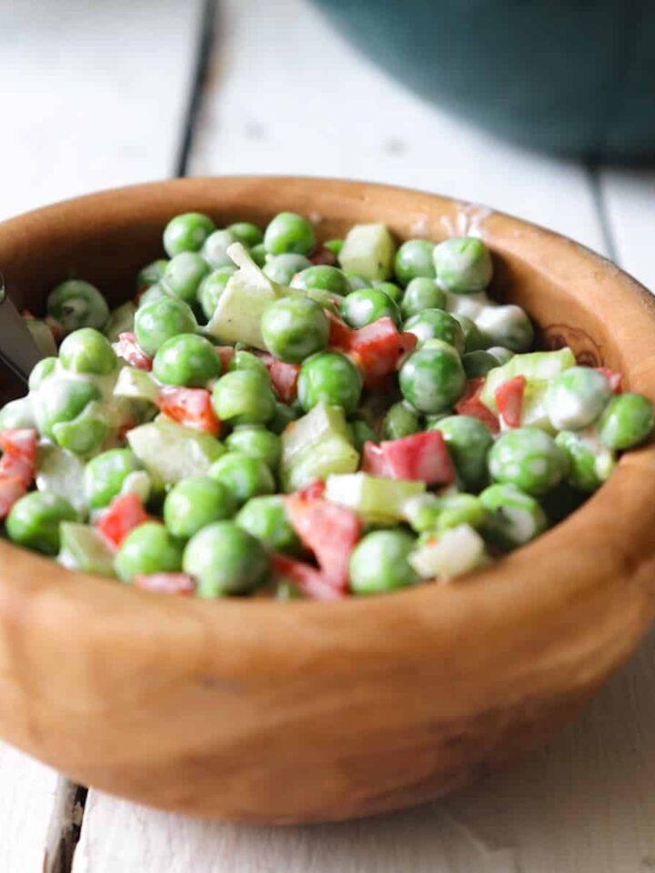 sweet pea salad featured