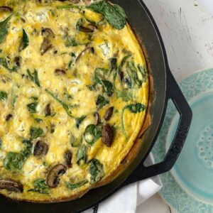 goat cheese frittata featured