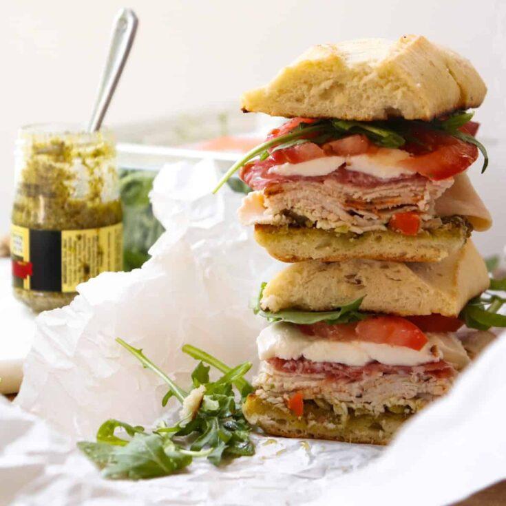 Spicy Italian Turkey Pesto Sandwich
