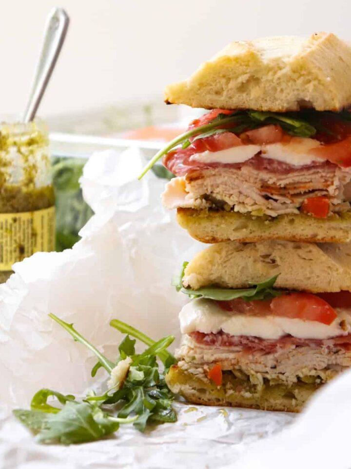 turkey pesto sandwich featured
