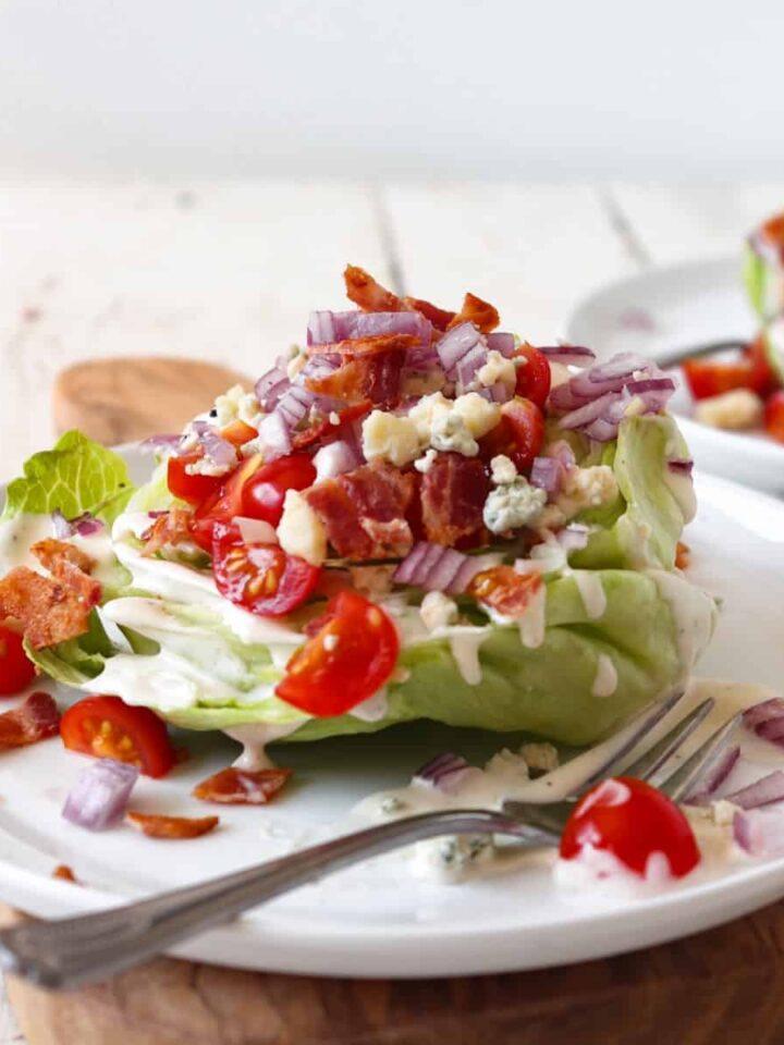 baby iceberg wedge salad featured