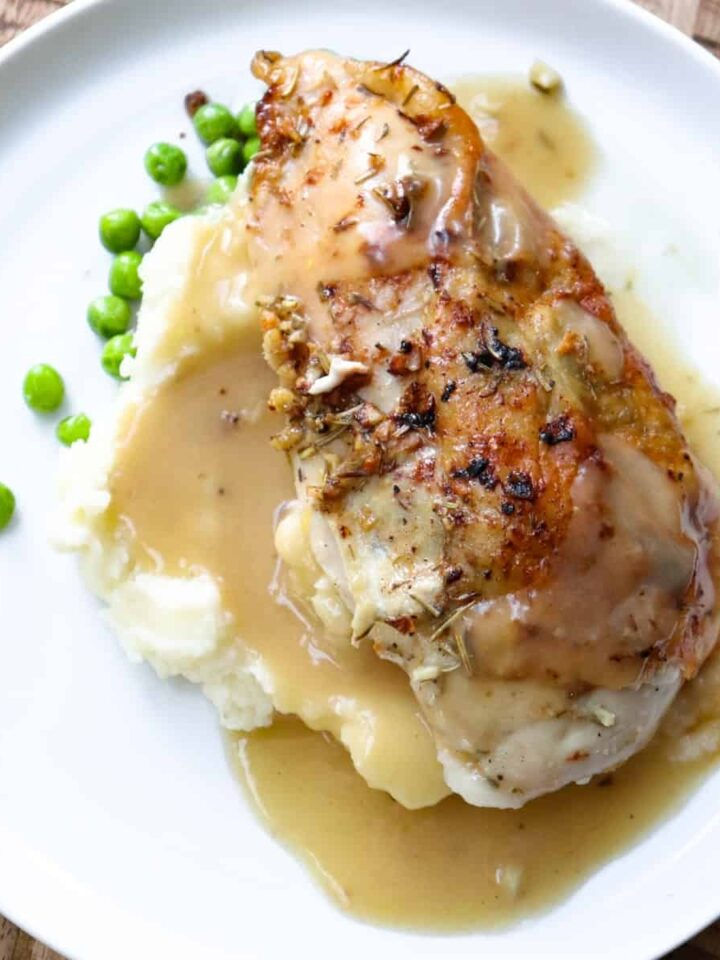 baked bone in chicken plated 4