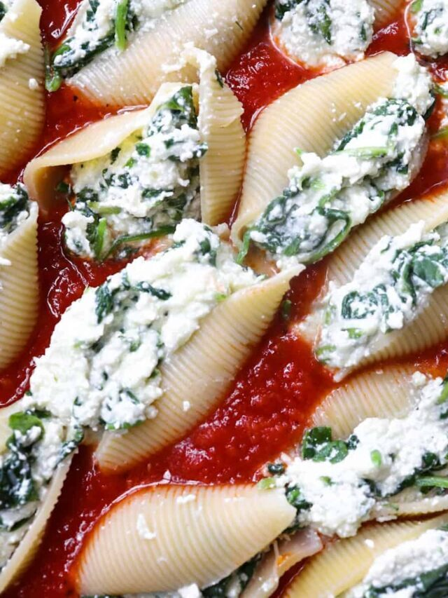 Jumbo Stuffed Shells with Cheese