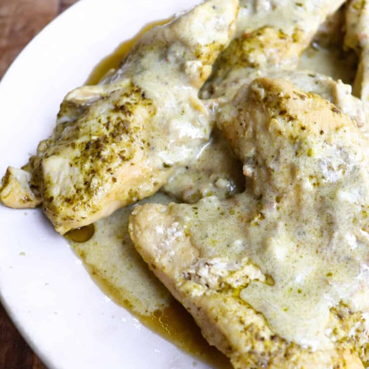 Creamy Instant Pot Pesto Chicken