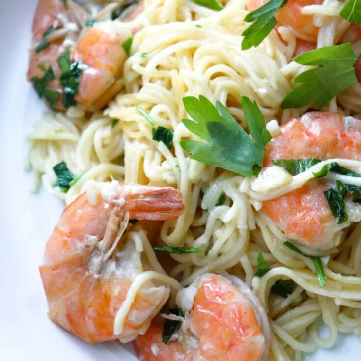 Instant Pot Shrimp Scampi with Angel Hair Pasta
